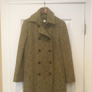 J. Crew Green Pea Coat - Size 8
